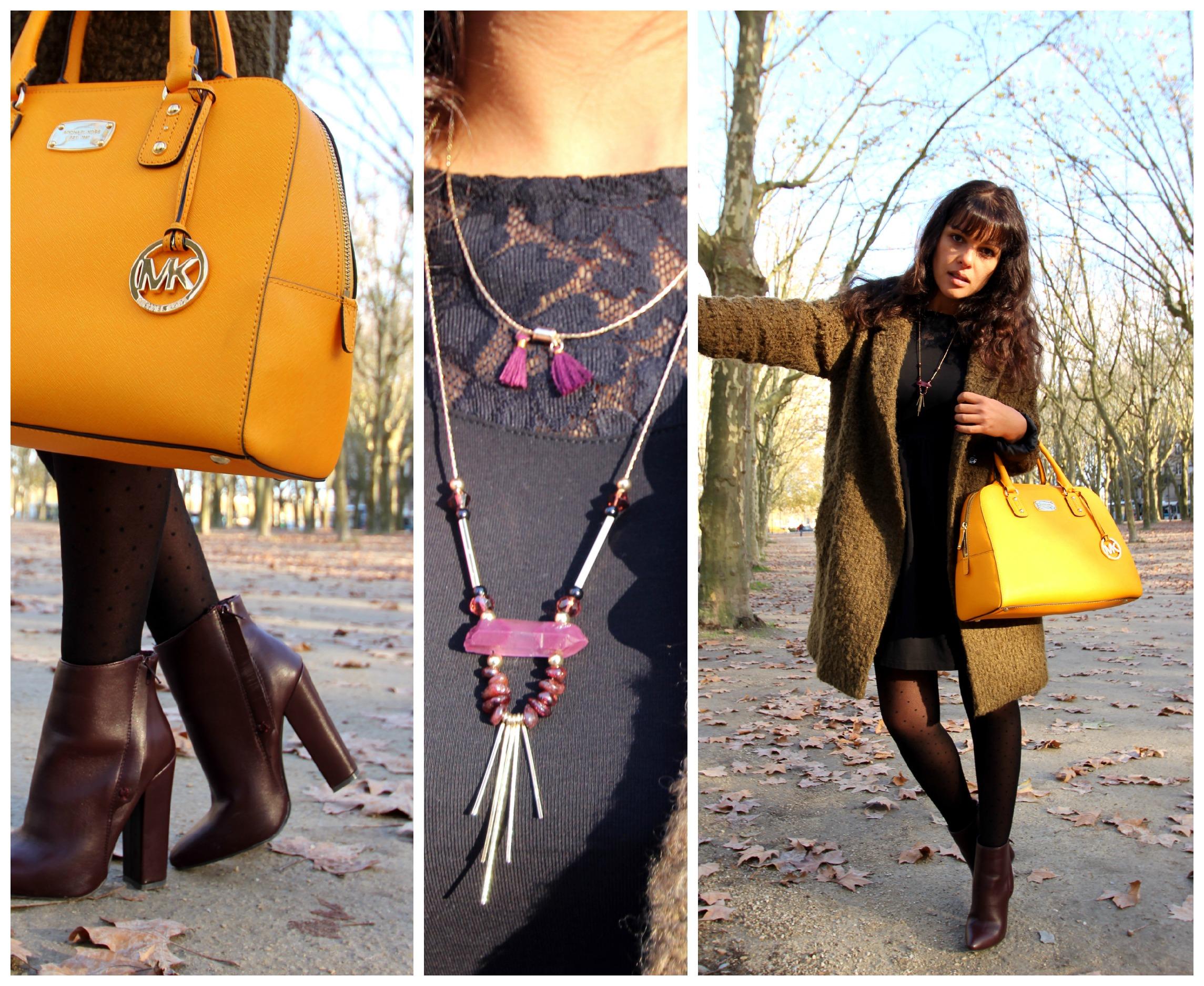 Blog Sac à Main Mode : Manteau peluche et pendentif c a sac jaune michael kors