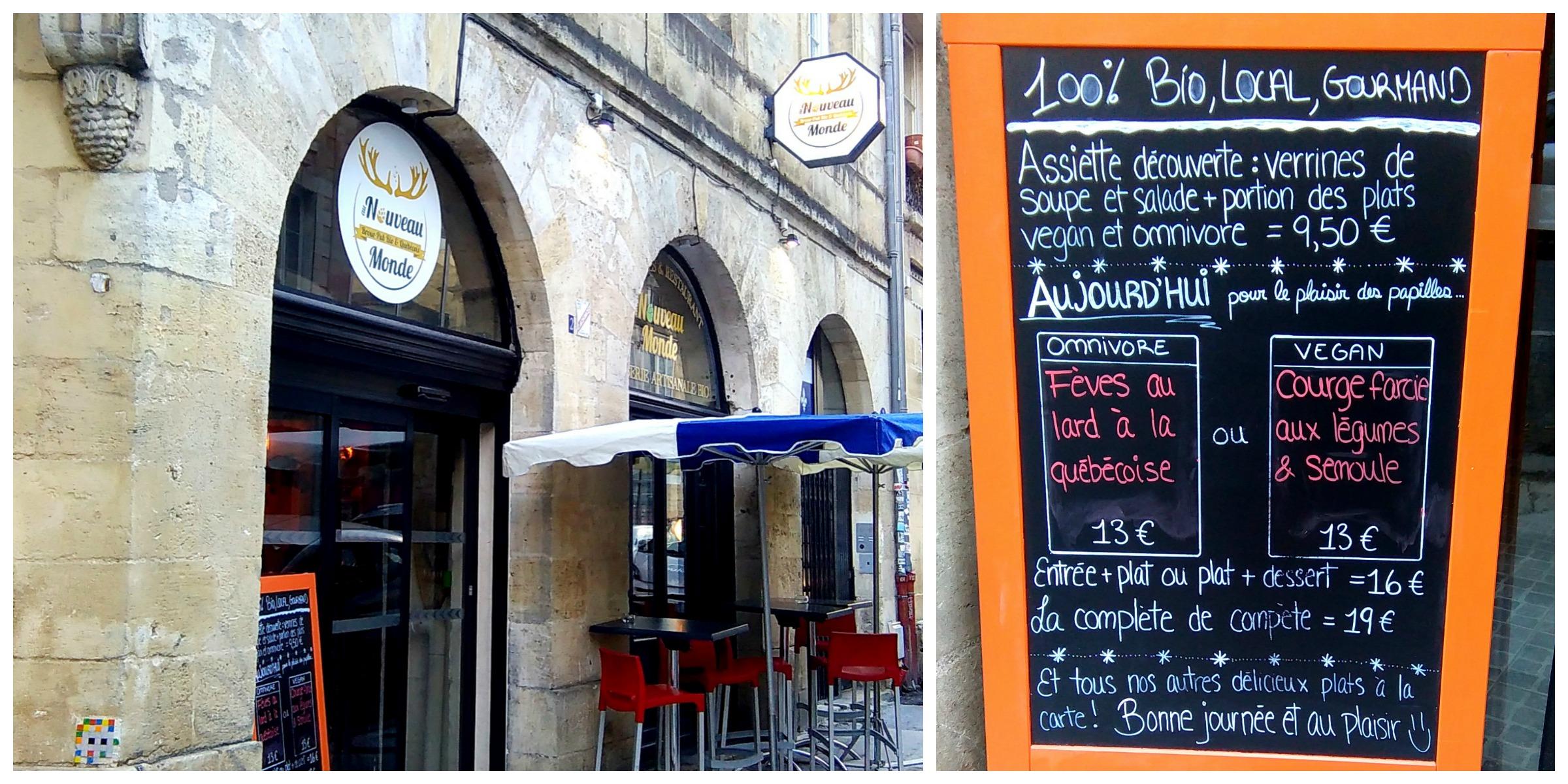 Au nouveau monde burger vegan bordeaux bordelaise by mimi - Resto bio tours ...