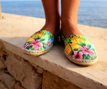 Cool Summer – Espadrilles Palmiers & Tee-Shirt Mermaid