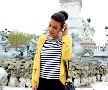 Marinière Chic & Veste Jaune Pimkie