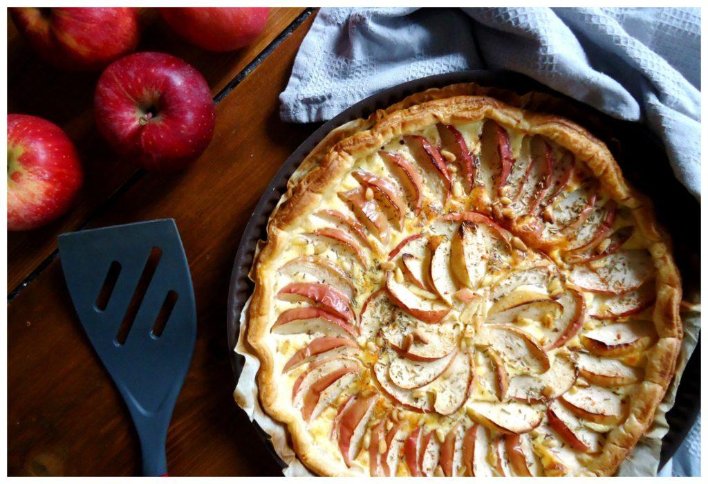 recette-veggie-tarte-pomme-chèvre