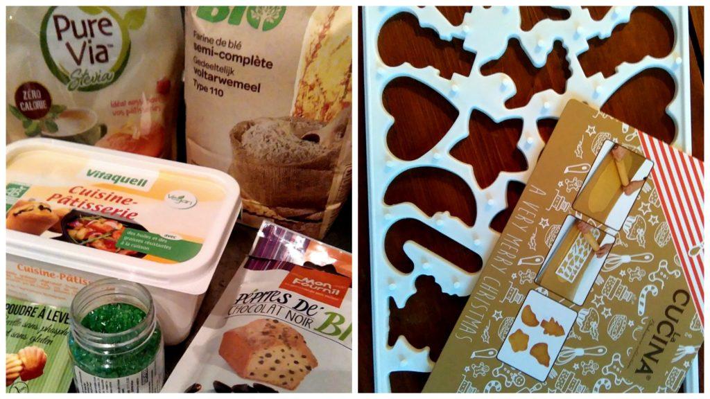 Ingrédients pour la recette des Cookies Vegan