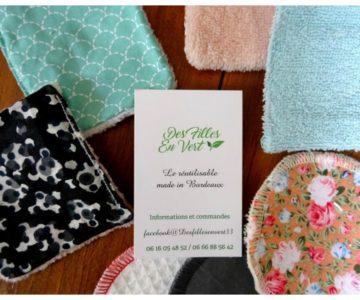 Des Filles en Vert – cotons lavables & réutilisables