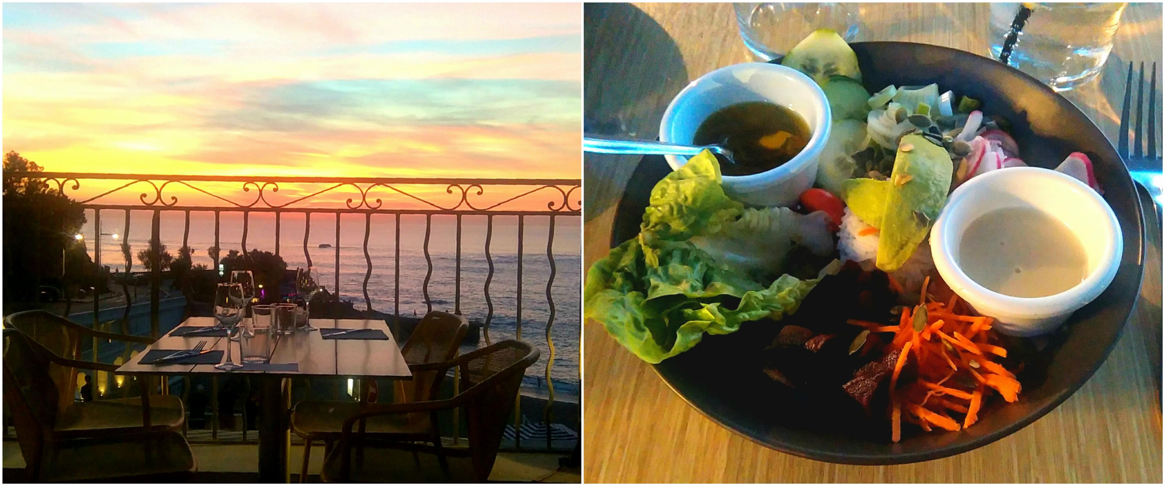 coucher de soleil vegan bowl biarritz les baigneuses