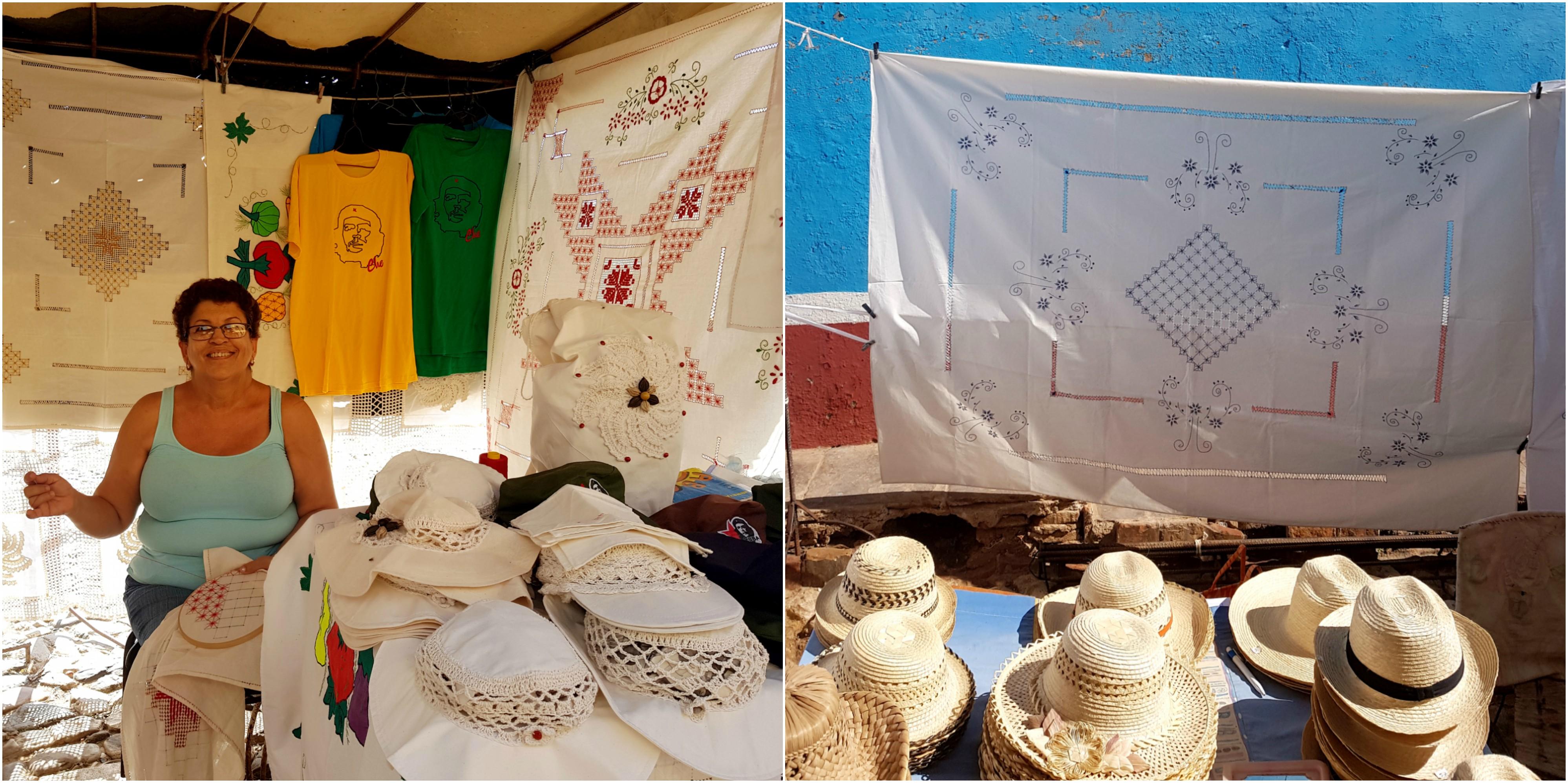 cuba-trinidad-marché-artisanat-broderie-souvenir