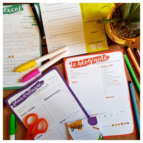 Les Blog Notes – Papeterie pour blogueuse