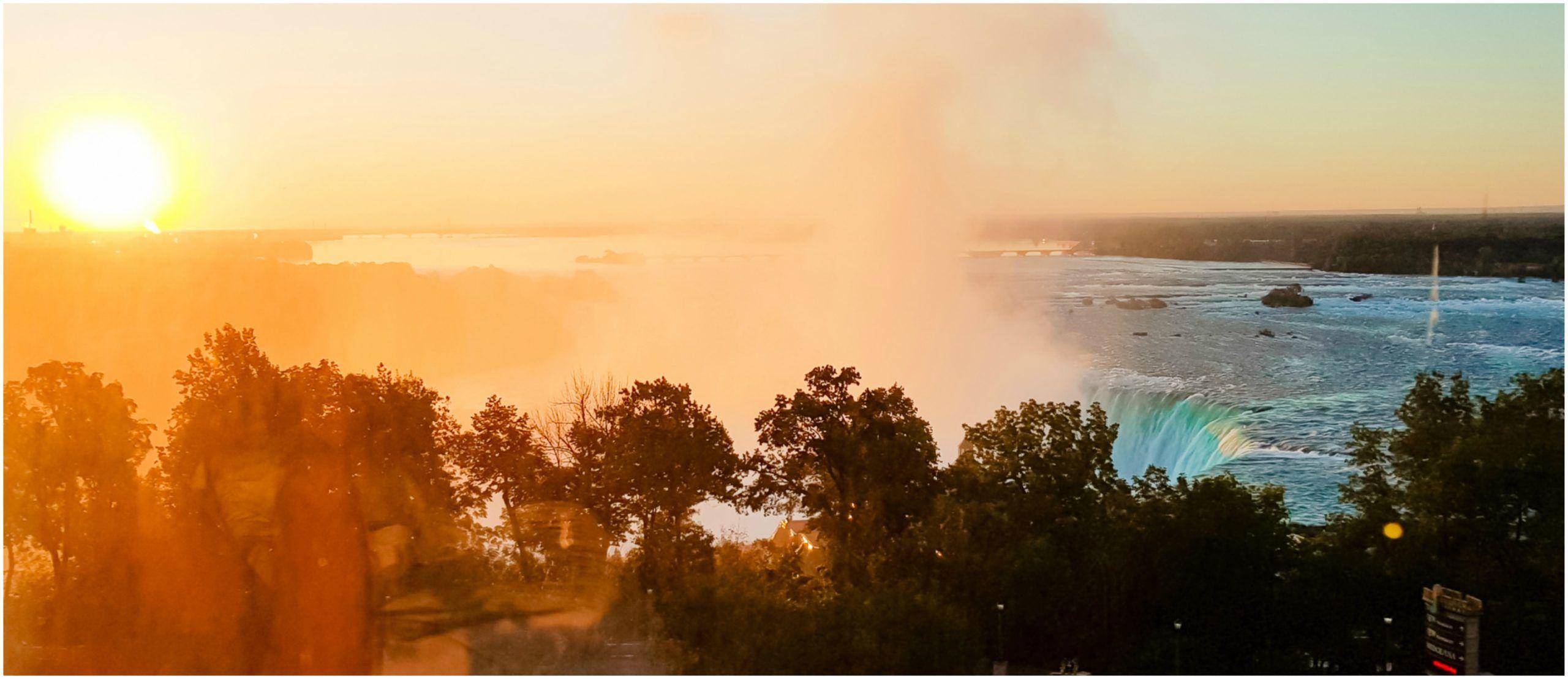 chute du niagara paysage panoramique